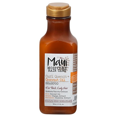 Maui Moisture Shampoo Curl Quench Coconut Oil For Thick Curly Hair - 13 Fl. Oz.