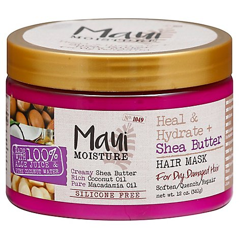 Maui Moisture Hair Mask Heal & Hydrate + Shea Butter for Dry Damaged Hair - 12 Oz