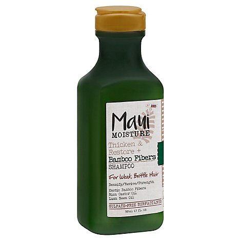 Maui Moisture Shampoo Thicken & Restore Bamboo Fibers For Weak Brittle Hair - 13 Fl. Oz.