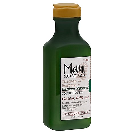 Maui Moisture Conditioner Thicken & Restore Bamboo Fibers For Weak Brittle Hair - 13 Fl. Oz.