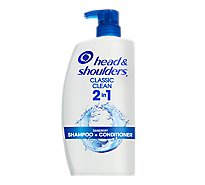 Head & Shoulders Shampoo + Conditioner 2In1 Paraben Free Classic Clean - 32.1 Fl. Oz.