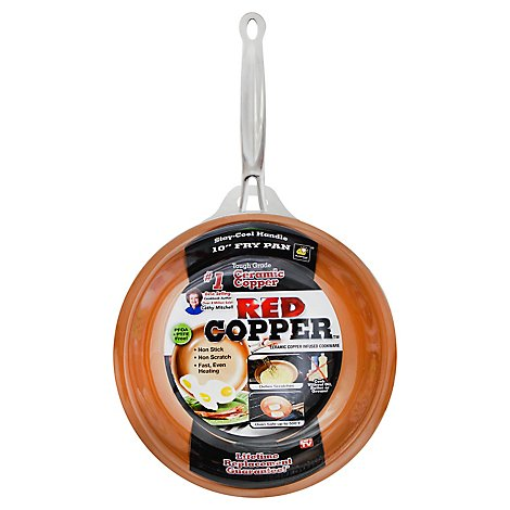 Teleb Red Copper 10in Fry Pan - Each