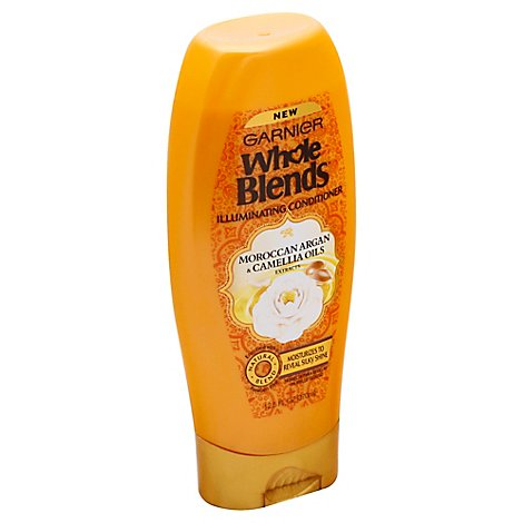 Garnier Whole Blends Illuminating Conditioner Moroocan Argan & Camella Oils - 12.5 Fl. Oz.