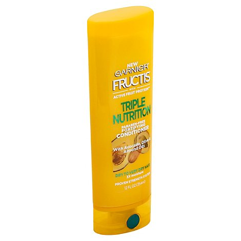 Garnier Fructis Conditioner Triple Nutrition With Avocado Olive & Almond Oils - 12 Fl. Oz.