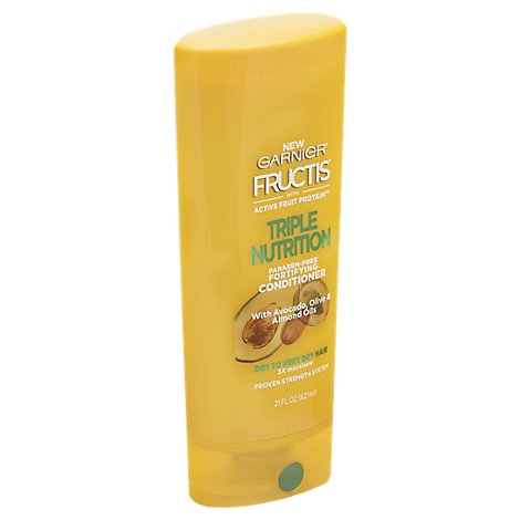 Garnier Fructis Conditioner Triple Nutrition With Avocado Olive & Almond Oils - 21 Fl. Oz.