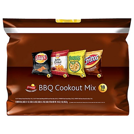 Frito Lay Snacks Cookout Mix Bbq 18 Count - 16 Oz