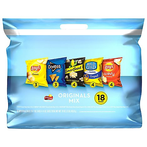 Frito Lay Snacks Originals Mix Bag - 18-1 Oz