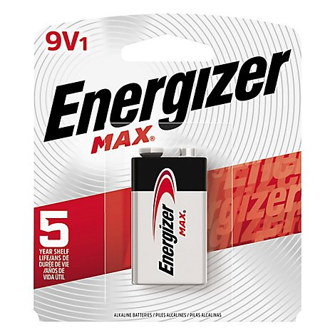 Energizer MAX Multipurpose Battery - 9V - Alkaline - 1 Pack