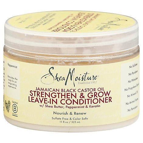 SheaMoisture Conditioner Leave In Strengthen & Restore Jamaican Black Castor Oil - 11 Fl. Oz.