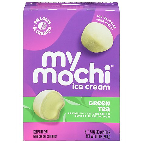 My Mo Ice Crm Mochi Green Tea - 6 Count