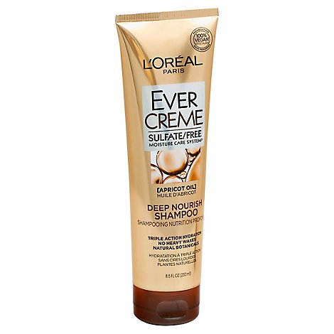 LOreal EverCreme Shampoo Deep Nourish Apricot Oil - 8.5 Fl. Oz.