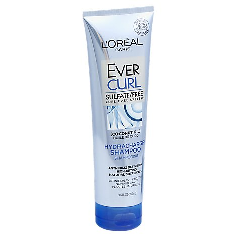 LOreal Paris Ever Curl Shampoo Hydracharge Curl Care System Coconut Oil - 8.5 Fl. Oz.