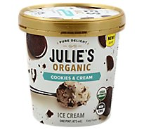 Julies Organic Ice Cream Cookies N Cream - 16 Fl. Oz.