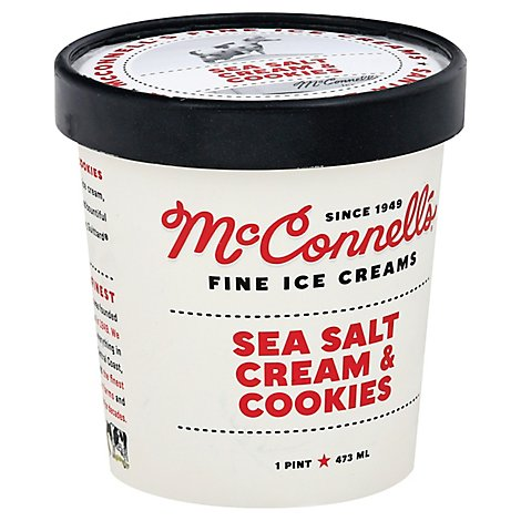 Mcconnells Fine Ice Crm Sea Salt Cookies N Cream - 1 Pint