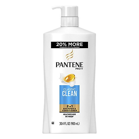 Pantene Pro-V Shampoo & Conditioner 2 in 1 Classic Clean - 30.4 Fl. Oz.