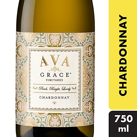 AVA Grace Vineyards Wine White Chardonnay California - 750 Ml
