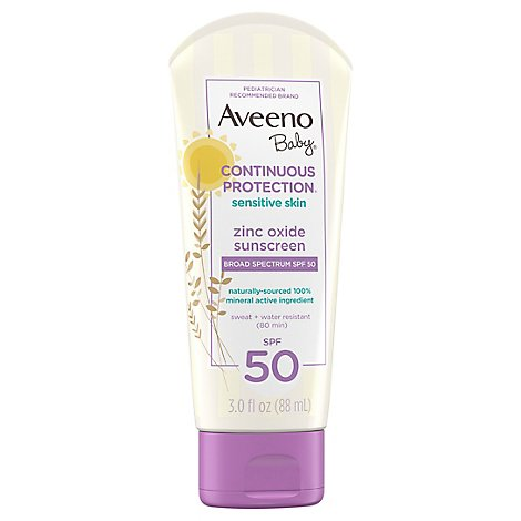 Aveeno Baby Natural Protection Sunscreen Lotion Broad Spectrum SPF 50 - 3 Oz
