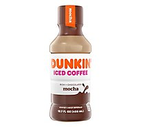 Dunkin Donuts Iced Coffee Beverage Mocha Bottle - 13.7 Fl. Oz.