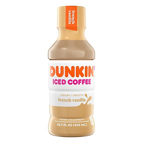 Dunkin Donuts Iced Coffee Beverage French Vanilla Bottle - 13.7 Fl. Oz.