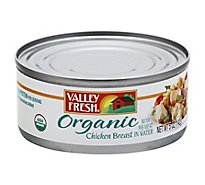 Valley Fresh Chicken Breast Organic with Rib Meat in Water - 5 Oz