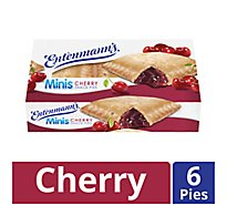 Entenmanns Minis Snack Pies Cherry - 6 Count
