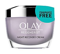 Olay Regenerist Night Recovery Cream Hydrating Moisturizer Fragrance Free - 1.7 Oz