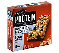 Signature SELECT/Kitchens Chewy Bars Protein Peanut Butter Dark Chocolate Flavored - 5-1.4 Oz