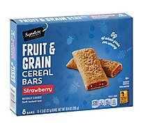 Signature SELECT Cereal Bars Fruit & Grain Strawberry - 8-1.3 Oz