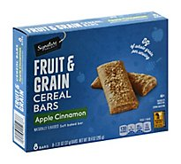 Signature SELECT Cereal Bars Fruit & Grain Apple Cinnamon - 8-1.3 Oz