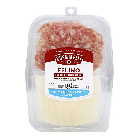Creminelli Salami & Cheese Tray - 2.2 Oz