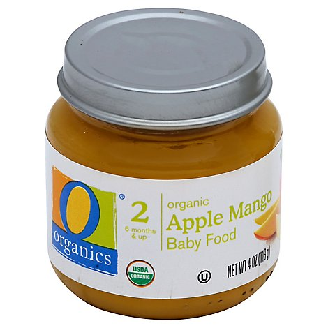 O Organics Organic Baby Food Stage 2 Apple Mango - 4 Oz