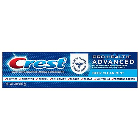 Crest Pro Health Toothpaste Advanced Deep Clean Mint - 5.1 Oz