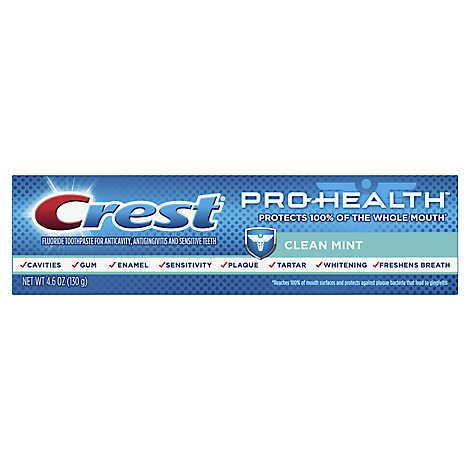 Crest Pro Health Toothpaste Clean Mint Paste - 4.6 Oz