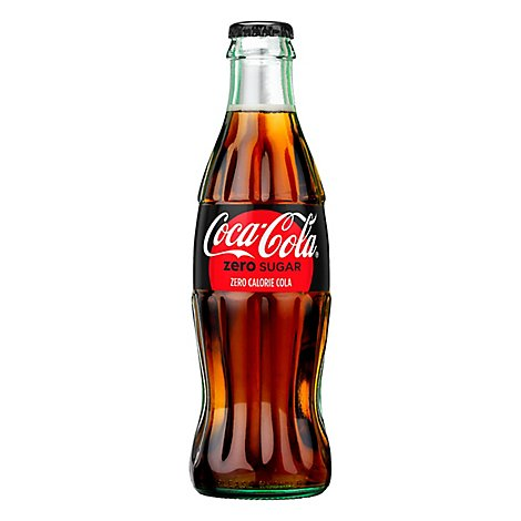 Coca-Cola Soda Zero Sugar Bottle - 8 Fl. Oz.