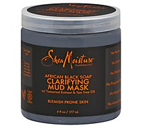 SheaMoisture Mud Mask Clarifying African Black Soap - 6 Fl. Oz.