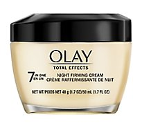 Olay Total Effects Cream 7 In One Night Firming - 1.7 Oz