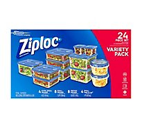 Ziploc Container & Lids Variety Pack - 24 Count