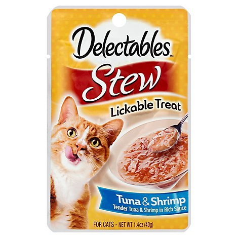 Delectable Lickable Treat Stew Tuna & Shrimp Pouch - 1.4 Oz