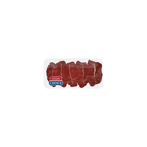 Meat Counter Beef Certified Angus Beef Chuck Top Blade Flat Iron Steak Service Case - 1.50 LB