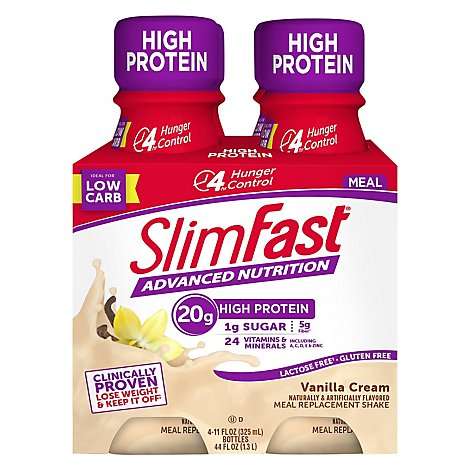 SlimFast Meal Replacement Shake Vanilla Cream - 4-11 Fl. Oz.