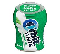 Orbit White Sugar Free Chewing Gum Spearmint Bottle - 40 Count
