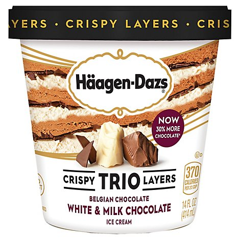 Haagen-Dazs Ice Cream Trio Chocolate - 14 Fl. Oz.