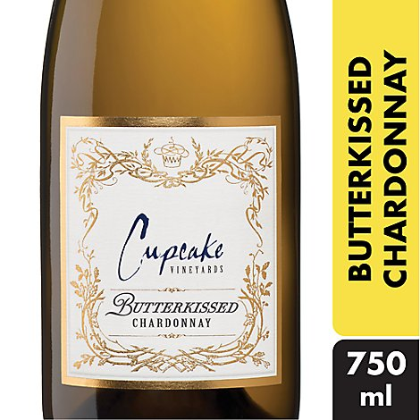 Cupcake Vineyards Wine White Butterkissed Chardonnay - 750 Ml