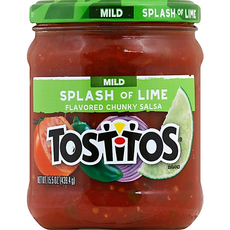TOSTITOS Salsa Chunky Splash Of Lime - 15.5 Oz
