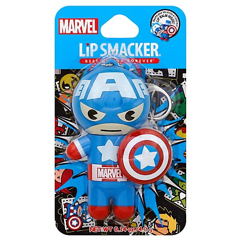 Lip Smacker Lip Balm Marvel Super Hero Captain America - Each