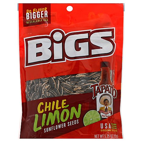 BiGS Sunflower Seeds Tapatio Chile Limon - 5.35 Oz