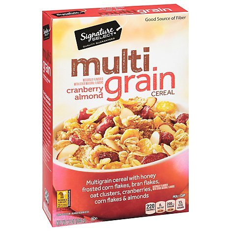 Signature SELECT/Kitchens Cereal Multigrain Cranberry Almond - 13 Oz