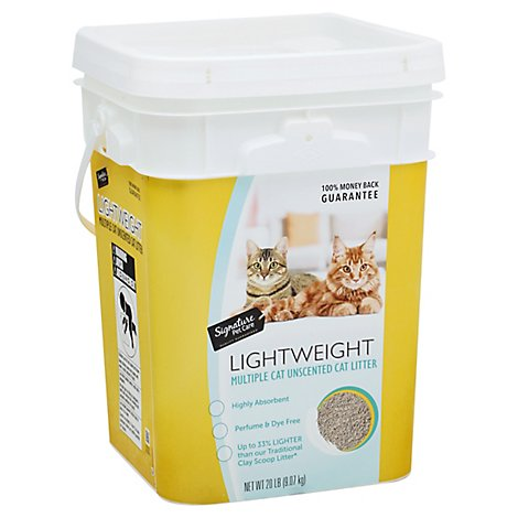 Signature Pet Care/Priority Cat Litter Lightweight Clumping Uncented Multiple Cat - 20 Lb