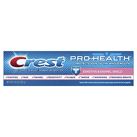 Crest Pro Health Toothpaste Sensitive & Enamel Shield Paste - 4.6 Oz