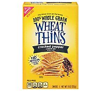 Wheat Thins Crackers Whole Grain Cracked Pepper & Olive Oil - 9 Oz